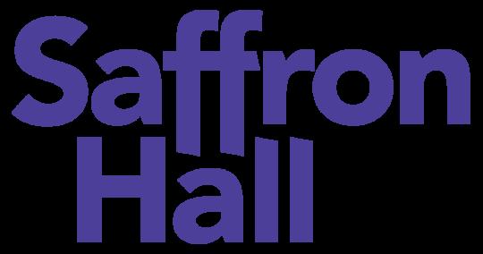 Saffron hall purple logo