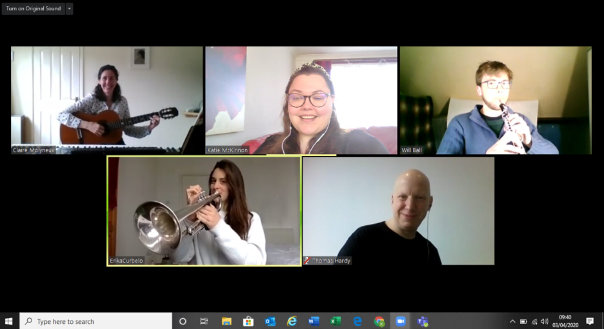 A Together in Sound online session.