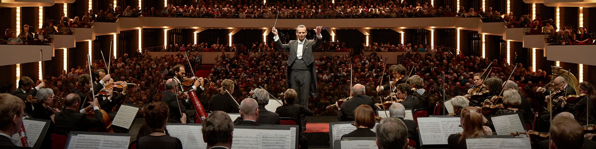 An Orchestra performing in concert