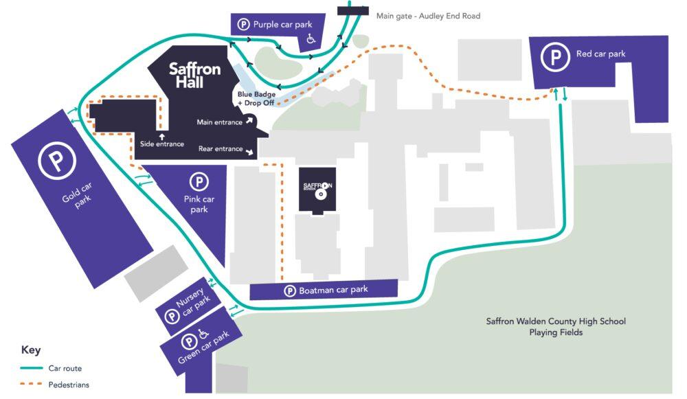 Saffron Hall Site Map