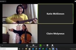 A screenshot from a Together in Sound online session.