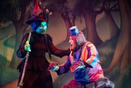 A performance of the Wizard of Oz.