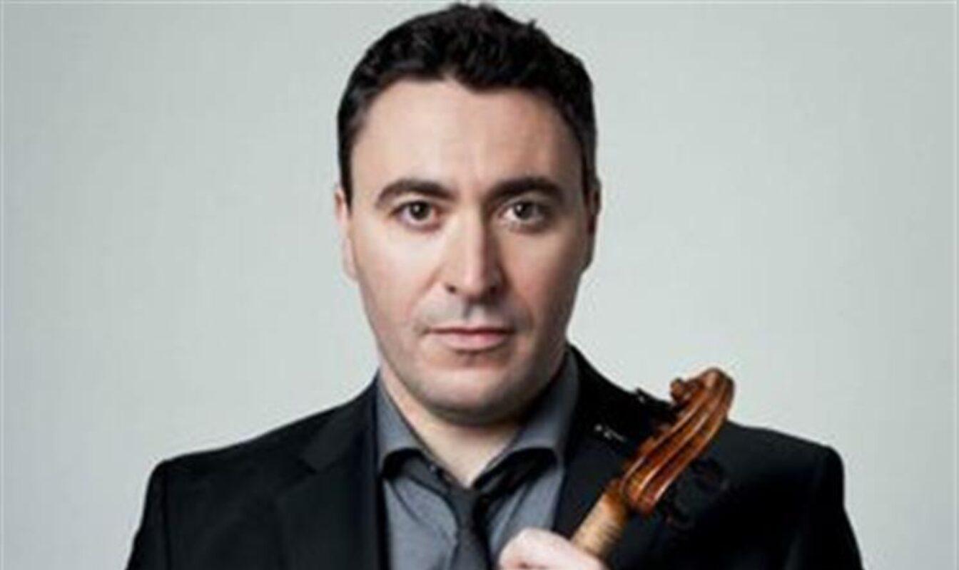 Maxim Vengerov with his violin.