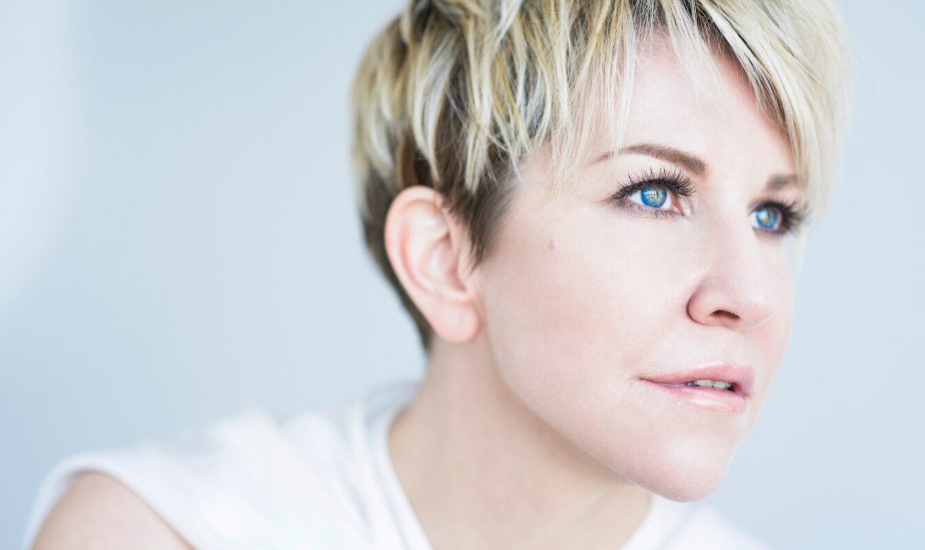 Joyce Didonato staring into the distance during a photoshoot.